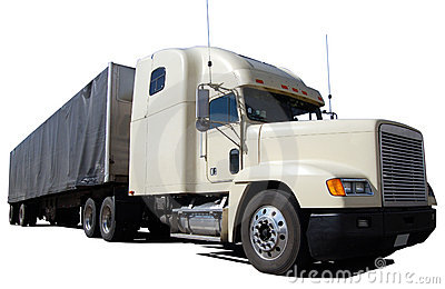 White Long-Haul Truck