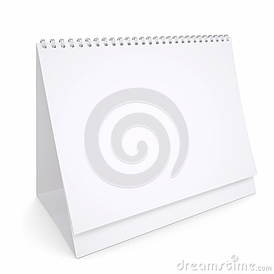White loose-leaf calendar