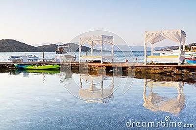 White luxury beds at Mirabello Bay on Crete
