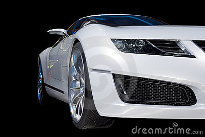 White Luxury Sports Car