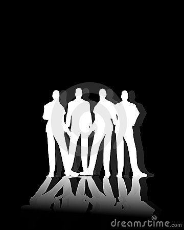 White Male Silhouettes