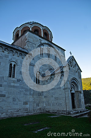 Free White Marble Church From 12. Century At Studenica Monastery Royalty Free Stock Photos - 46095388