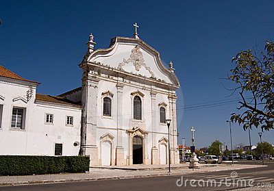 White marble church in the Portuguese city