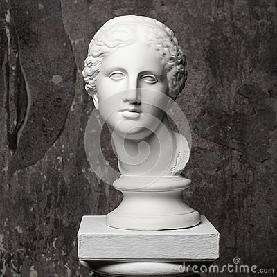 Free White Marble Head Of Young Woman Stock Photos - 55736783