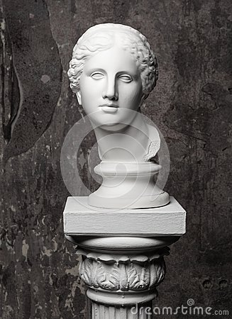 Free White Marble Head Of Young Woman Royalty Free Stock Photos - 55850598