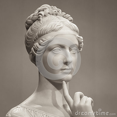 Free White Marble Head Of Young Woman Royalty Free Stock Photos - 78006098