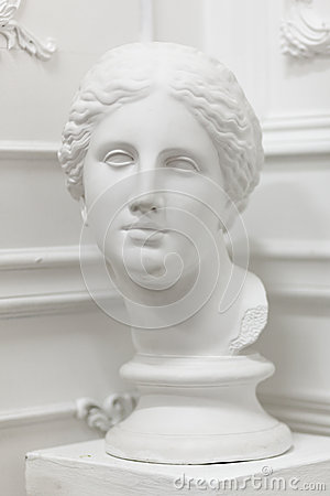 White marble head