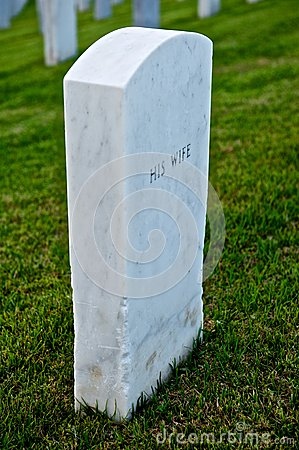 White Marble Headstone Or Gravestone Royalty Free Stock