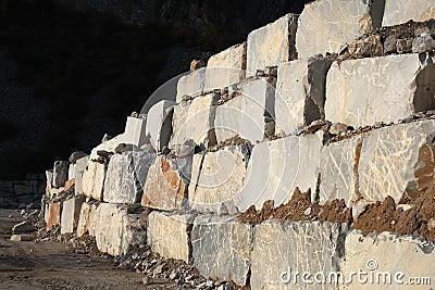 White marble quarry
