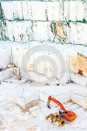 White marble quarry Carrara, Italy