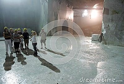 White marble quarry in marina di carrara Editorial Photography