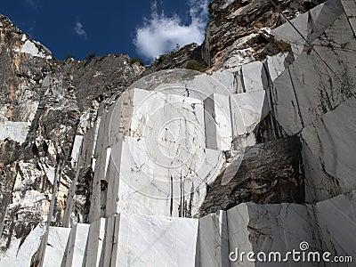 White marble quarry in marina di carrara