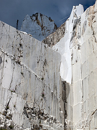 White marble quarry in marina di carrara