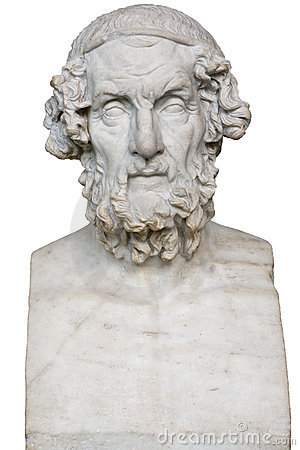 White Marble Statue Of The Greek Poet Homer Stock Image