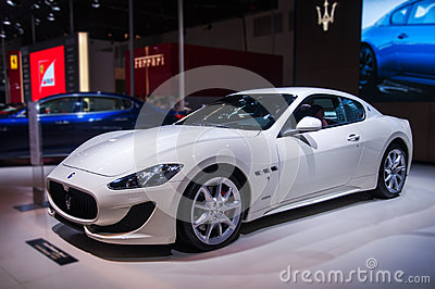 A white maserati car Editorial Photography