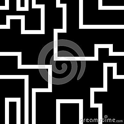 White Maze Pattern