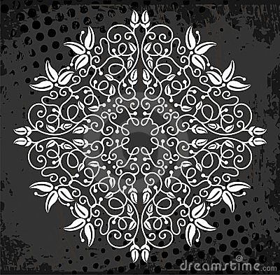 White medallion pattern