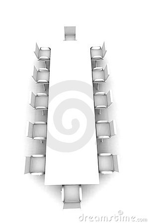 White Meeting room - top view