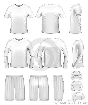 White men s clothing templates