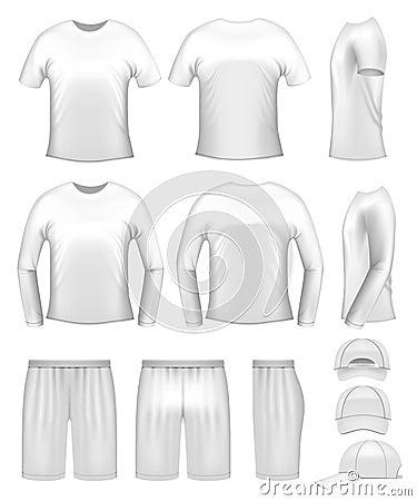 White men s clothing templates