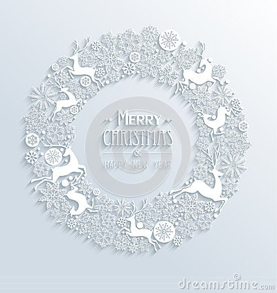 Free White Merry Christmas And Happy New Year 3d White Royalty Free Stock Photography - 35956227