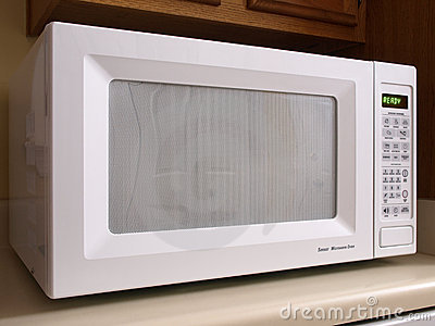 White Microwave oven front