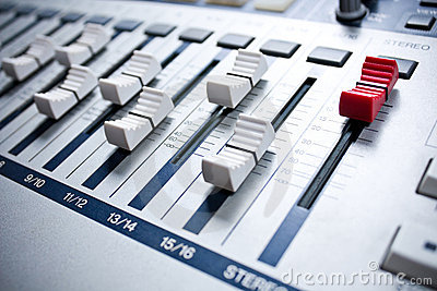 White mixer in studio