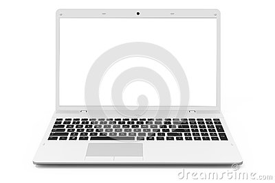 White mobility laptop