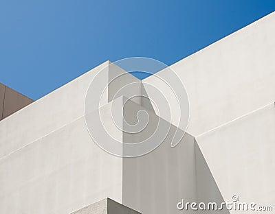 White Modern Building, Blue Sky