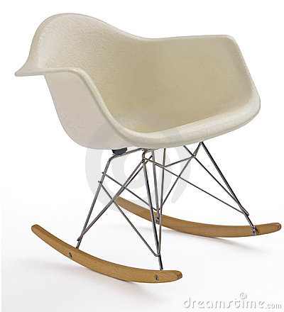 Free White Modern Rocking Chair Stock Photo - 9140650