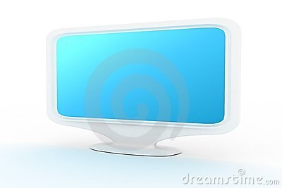 White monitor with blue shade 2