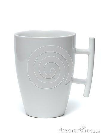 White mug.