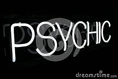 White Neon Psychic Sign 1