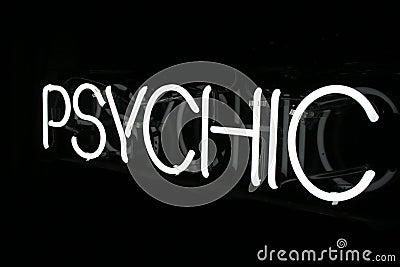 White Neon Psychic Sign 2