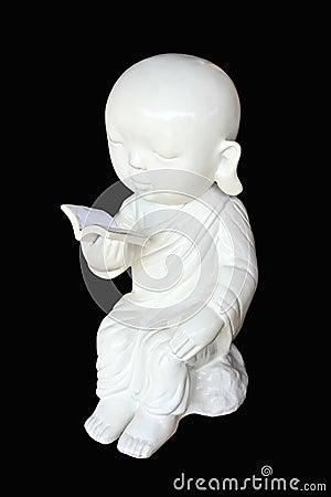 White neophyte statue