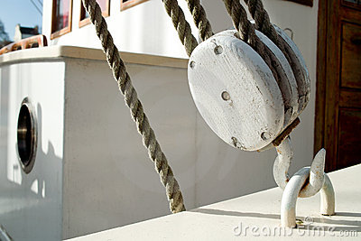 White old pulley