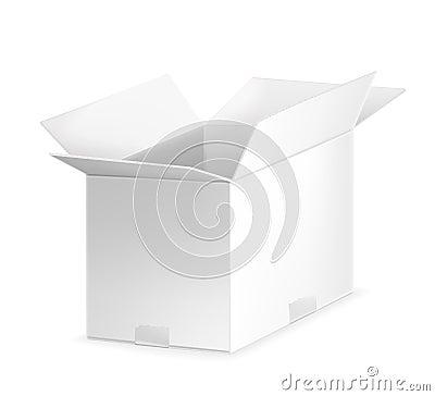 White open carton box