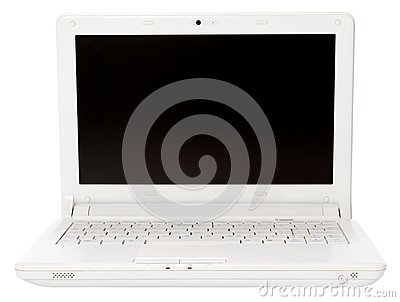 White open laptop