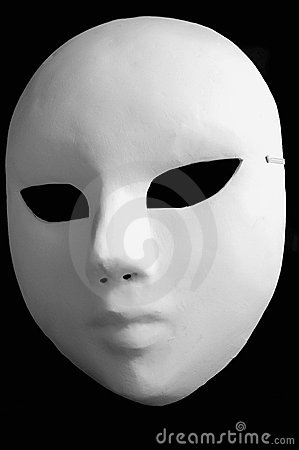 White opera mask for theatre performance