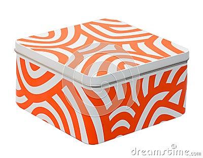 White-orange container