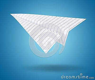 White origami plane