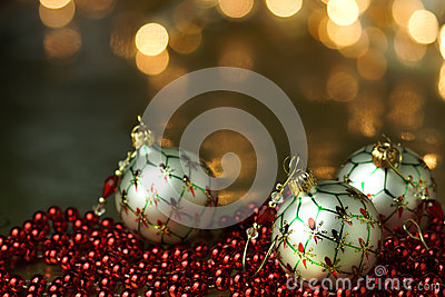 White Ornament Holiday Background
