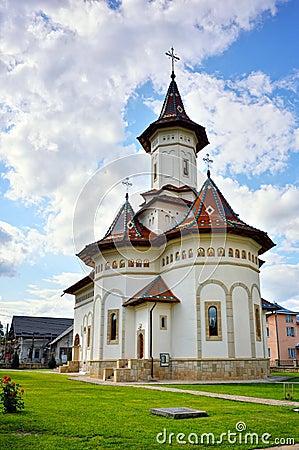 White orthodox church facade