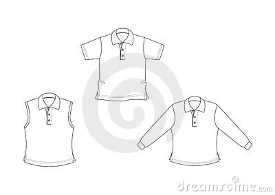 White, outlined polo-shirts