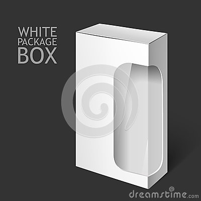 Free White Package Box With Window. Mockup Template Royalty Free Stock Photos - 63513318