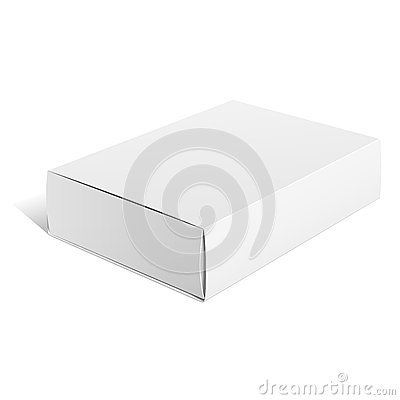 White Package carton Box. For Software