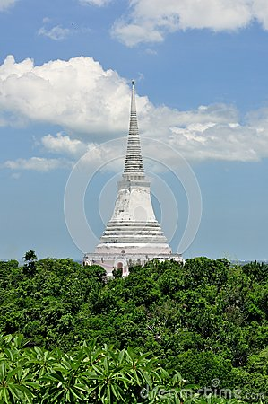 White Pagoda in Khao Wang Royal Palace