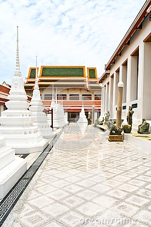 White pagoda in thai temple
