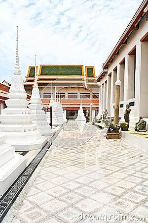 White pagoda in thai temple
