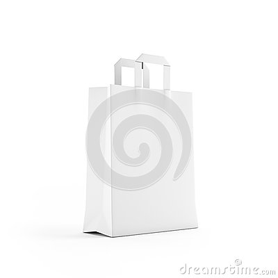 Free White Paper Bag Isolated On White Stock Images - 27625554